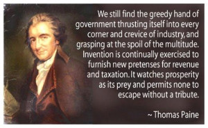 Thomas Paine Quote INFOWARS.COM BECAUSE THERE'S A WAR ON FOR YOUR MIND