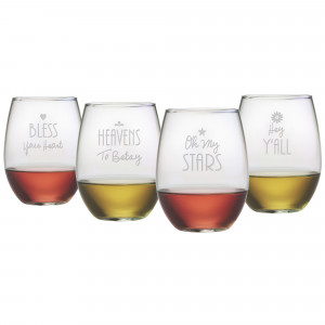 Home > Products > Southern Sayings Stemless Wine Glasses