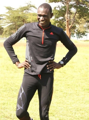 800m World record setter David Rudisha of Kenya looking edible