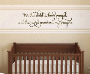 Nurseries Wall, Christian Baby, Decals Quotes, Quotes Letters, Wall ...