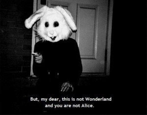 scary Black and White horror gore Alice In Wonderland alice human ...