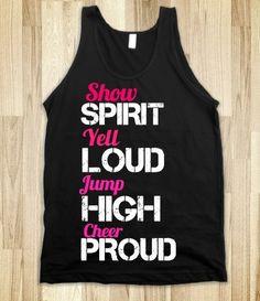 Cheer tank top. #Cheerleader #Cheerleading