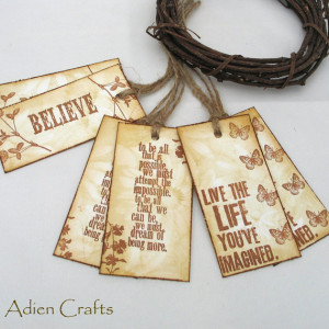 Inspirational Quotes Gift Tags or Product Tags