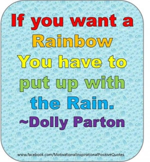 These are the rainbow life quote sayings Pictures