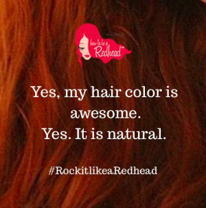 Redhead Quote––How to be a Redhead
