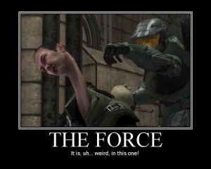 funny halo motivator the force