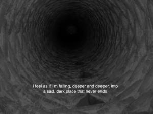 depression sad dark darkness falling
