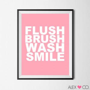 Printable Quotes, Bathroom Quote, Bathroom Printable, Pink Bathroom ...