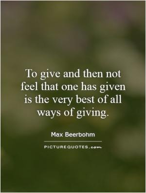 The more you give, the more they try and take.