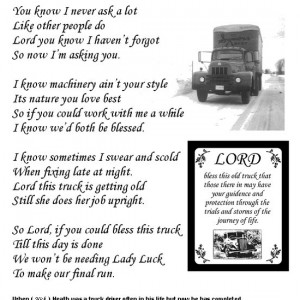 truck driver prayers poems