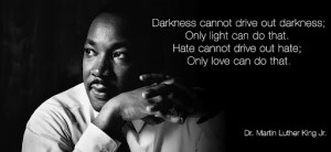 drive out darkness; only light can do that. Hate cannot drive out hate ...