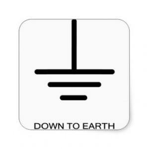 Down to Earth Square Sticker