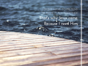 ... in time, the Holy Spirit brought me to this astonishing realization
