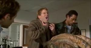 Seann William Scott (Wayne) and Orlando Jones (Harry) in Evolution ...