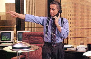 Corporate comeback... Michael Douglas as Gordon Gekko in Wall Street.