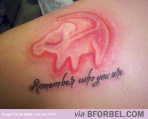 Awesome Lion King Tattoo