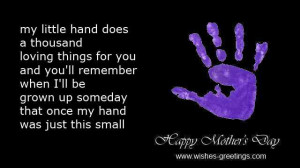 mothers day poems for children handprints