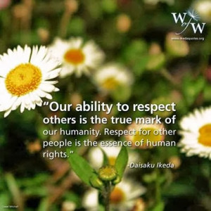 Respect for Others... quote by Daisaku Ikeda
