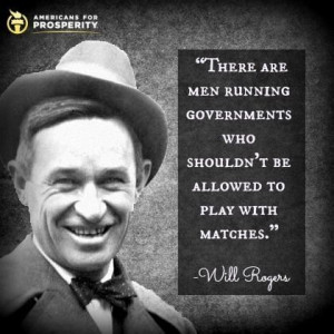Will Rogers; government quote