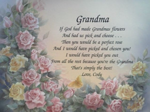 Grandma Birthday in Heaven Poem | Personalized grandma Poem