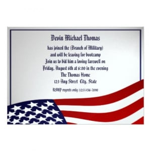 Learn more about these Military Going Away Party Invitations