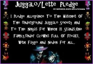 every true juggalo & juggalette know dis