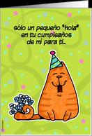 Un Pequeño Hola card - Product #228433