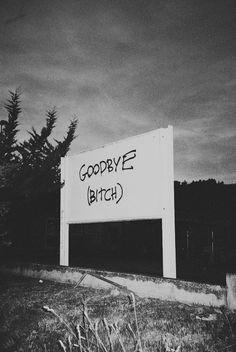 Goodbye | bitch | sign | nasty | rebel | graffiti | good riddance ...