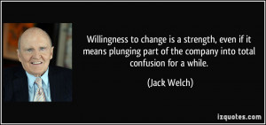 Willingness to change is a strength, even if it means plunging part of ...