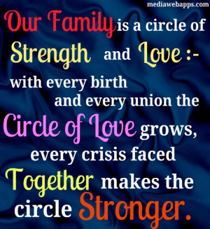 Our family is a circle of strength and love with every birth and every ...