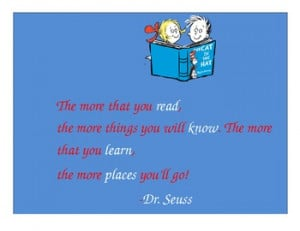 Dr.Seuss reading poster