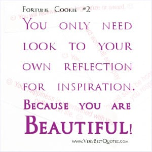 REFLECTION QUOTES, YOU ARE BEAUTIFUL QUOTES