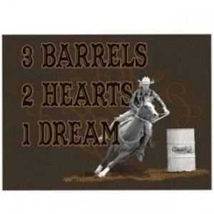 New Barrel Racing Hoodies! 3 Barrels, 2 Hearts, 1 Dream...