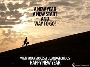 Happy New Year 2013 wish and inspirational quote, greeting card ...