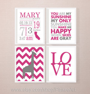 New Baby Girl Quotes Personalized new baby gifts