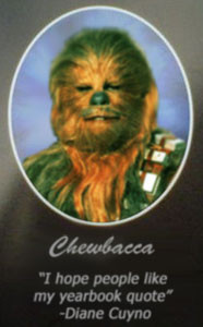 it s even more badass when you see chewbacca s yearbook quote