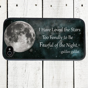 Celestial iPhone Case, iPhone Case, Moon Face, Galileo Stars Quote ...