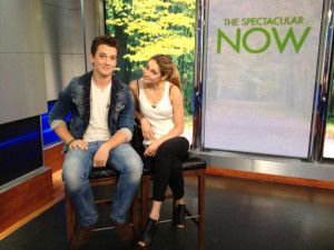 Miles Teller & Shailene Woodley look adorable in these @TheSpecNow ...