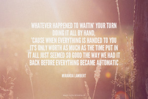 Back before everything became automatic - Miranda Lambert #country, # ...