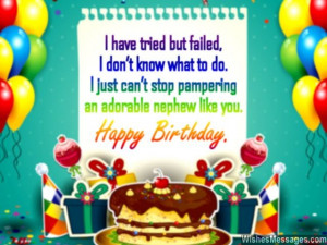 Sweet birthday quote for nephew from aunt or uncle