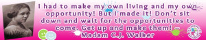 madame cj walker quotes on opportunities