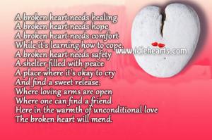 Sayings About Broken Hearts Healing Broken heart needs healing