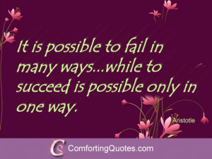 Quote About Success and Failure by Aristotle