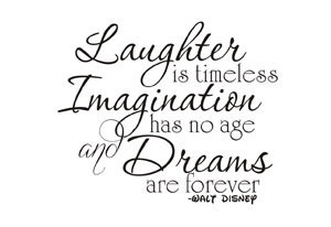Walt Disney Laughter wall art quote decal