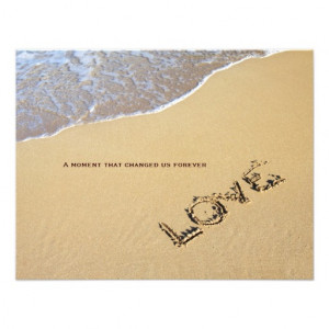 beach and love quote wedding invitation beautiful beach scene with ...