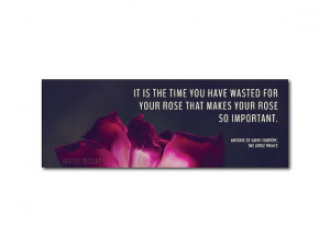 Photo Bookmark Rose The Little Prince Quote - Rose Photography Book ...