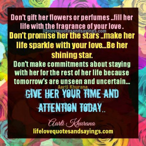 Give Her Your Time ..