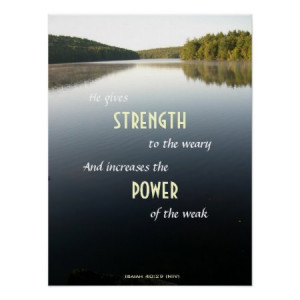 Calm Waters Power and Strength Christian Poster by dustytoes