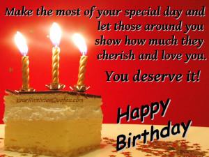 Happy Birthday Quotes , Happy Birthday Love Quotes , Happy Birthday ...