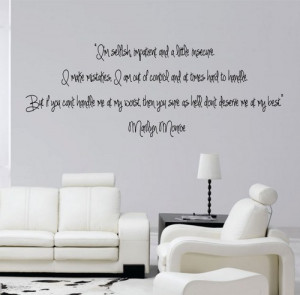 marilyn monroe quote wall marilyn monroe wall decal marilyn monroe